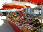 Huelgoat's colourful market