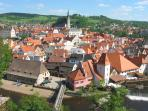 Cesky Krumlov is the 2nd most visited place in the Czech Republic.