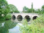 Leintwardine Bridge over the River Teme. A river crossing since Roman times.
