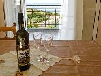Have a glass of wine while enjoying the view