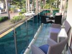 Sunny spacious balcony