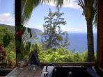 Ocean views from jacuzzi room
