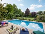 The swimming pool at Vicarage House