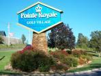 Pointe Royale Entrance
