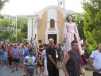 Typical Italian festival at the church near the river