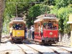Electric train connecting Sintra to Praia das Maçãs