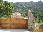 Entrance to the villa with views of Monte Moro