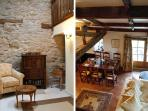 Charming interior features