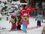 // Chalet Roc can help arrange ski school lessons and childcare for your children