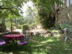 terras onder de notenboom