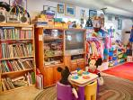 Fun playroom for the kids, dress up clothes and lots of toys!