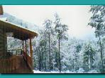 Winter at the cabins. A true winter wonderland !
