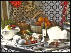 The ancient kitchen with our products