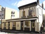 Victorian riverside gastro pub for great food, just 5 minutes' walk away