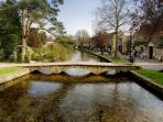 Nearby Bourton on the Water with Birdland, The Model Village, tea rooms & more!