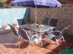 Rear Patio - for those relaxing al fresco breakfasts and evening meals