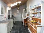 fully stocked open plan kitchen