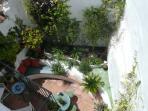 Enjoy a sherry before dinner in the flower filled Moorish Courtyard