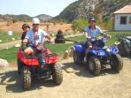 Quad biking at the local Adventure Centre 3km away