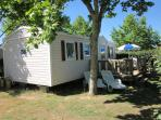Mobile Home With Decking