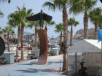 Aguilas (Eagles) marina just off town centre