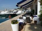 Restaurant overlooking Javea Port