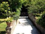 Garden around the villa