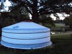 The yurt at dusk