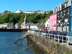 Tobermory, the main town on Mull - an easy day trip from our house