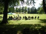 Cricket in The Abbey grounds, watch a game during the summer months