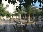 Cafe in square