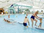 Indoor pool with waterslide!