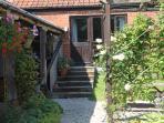 Door from Owl Barn to the courtyard garden