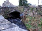 The old stone bridge by the cottage