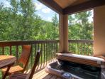 Enjoy the beautiful views as you lounge in the hot tub.