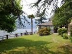 Sunny lake view garden