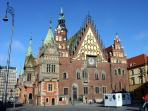 Town hall and Market Square in Wroclaw.