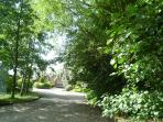 The private driveway to our small, exclusive, private 5* Gold luxury countryside hamlet