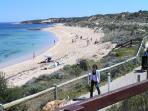 Popular beach pathway from Beachside Prevelly Villas to beach cafe