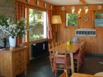 The Dining  Room, the table has an extension if required to seat 14