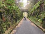 Cycling along the old railway line in Glen Ogle
