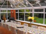 Dining Conservatory overlooking garden & seating up to 16 people