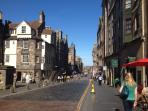The Royal Mile is a minute's walk away