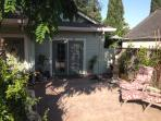 Large private enclosed patio to beach cottage
