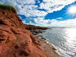 North Shore Beaches, red cliffs
