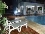 Villa Breeze at night