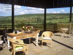 With Stunning views from the covered patio just the place to unwind with a glass of wine or a cuppa!
