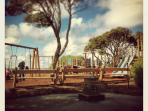 The Point Lonsdale Playground is conveniently located opposite the main shopping strip