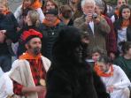 The Fête de l'Ours in St Laurent de Cerdans, held each February