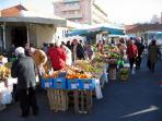 Local Famer's Market every Tue, Fri & Sun. Get the freshest local produce right over the balcony!